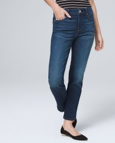 Petite High-Rise Straight Crop Jeans