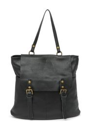 Markese Leather Top Handle Backpack