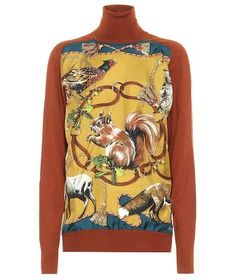 Dolce & Gabbana Printed cashmere and silk sweater