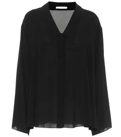 The Row Fabio silk-georgette blouse