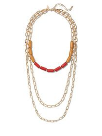 Beaded Layered Link Necklace - New York & Company