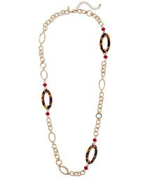 Faux-Tortoise Oval Link Necklace - New York & Comp