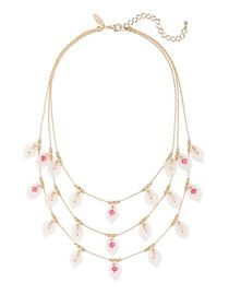Layered Floral Statement Necklace - New York & Com