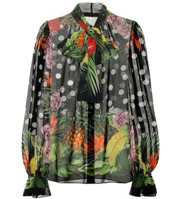 Dolce & Gabbana Printed silk-georgette blouse