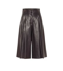 Dolce & Gabbana High-rise leather culottes