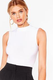 Nasty Gal White High Neck to Differ High-Leg Bodys
