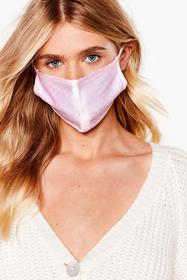 Nasty Gal Pink Game Face Spotty Fashion Face Mask