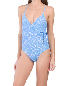 On The Spot Side Tie One-piece Swimsuit