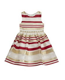 Toddler Girl Burnout Organza Stripe Fit And Flare