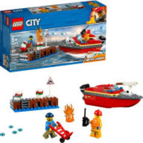 Title: LEGO City Fire Dock Side Fire 60213