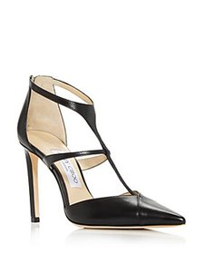 Jimmy Choo - Women's Saoni 100 T Strap Pointed Toe