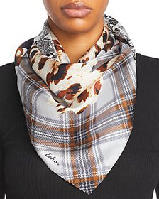 Echo - Butterfly Patch Silk Square Scarf
