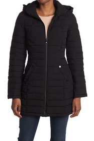 Nautica Packable Stretch Hood Quilted Jacket