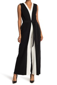 T Tahari Sleeveless V-Neck Jumpsuit