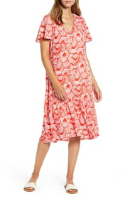 Tommy Bahama Shell We Dance Short Sleeve Midi Dres