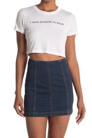 BCBGeneration Short Sleeve Cropped Knit T-Shirt
