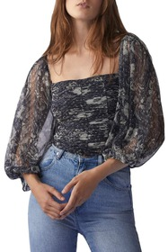 Free People Lilia Puff Sleeve Top