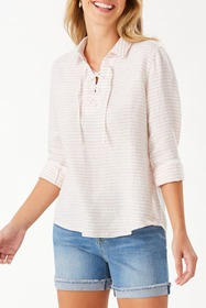 Tommy Bahama Dobby Llama Lace-Up Shirt