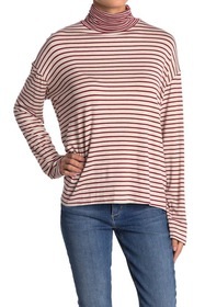 PST by Project Social T Stripe Turtleneck Top