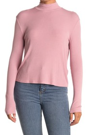 Splendid Mock Neck Long Sleeve Top