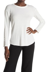 T Tahari Long Sleeve Drop Shoulder Crew Neck