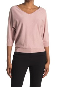 philosophy V-Neck 3/4 Length Sleeve Sweater