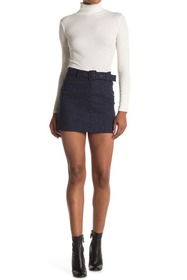 Theory City Belted Mini Skirt