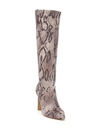 Charles David Dalton Snake Print Knee High Boot