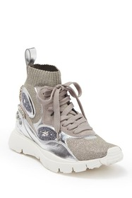 Valentino Embellished Stretch Sneaker
