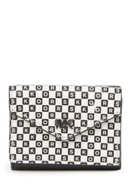 MICHAEL Michael Kors Leather Small Checkered Lette
