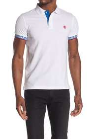 Roberto Cavalli Logo Trim Short Sleeve Polo