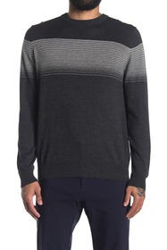 Perry Ellis Variegated Stripe Pullover Sweater