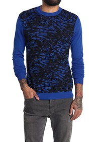 Versace Wool Abstract Printed Sweater