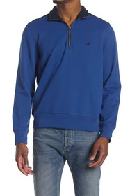 Nautica Quarter Zip Pieces Fleece Sweatshirt