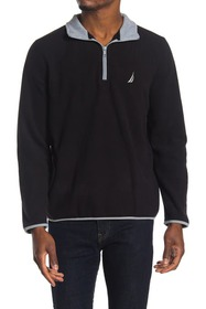 Nautica Polar Fleece Partial Zip Front Sweater