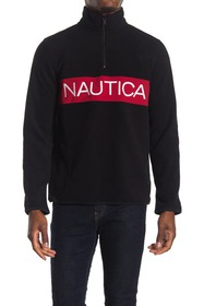 Nautica Quarter Zip Polar Fleece Sweater