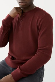 True Religion Thermal Long Sleeve Henley