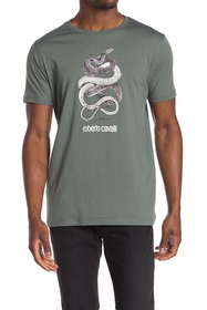 Roberto Cavalli Wrapped Snake Short Sleeve T-Shirt