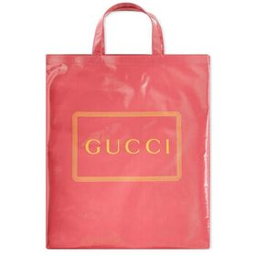 Gucci Gucci Pink Men's Medium Logo Print Tote