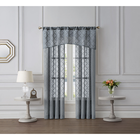 Tiburon Clip-JQ FX Linen Rod Pocket Sheer Curtain
