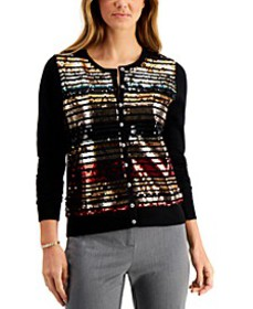 Sequin-Embellished Cardigan, Created for Macy's