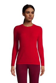 Lands End Women's Cashmere Cable Sweater