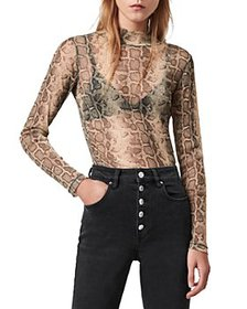ALLSAINTS - Francesco Snake Print Top