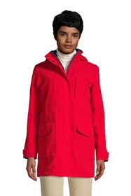 Lands End Women's Squall Waterproof Raincoat with