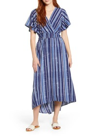 Tommy Bahama Fan Fair Stripe Short Sleeve Maxi Dre
