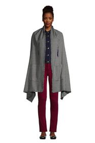 Lands End Women's Shawl Wrap Scarf with Pockets