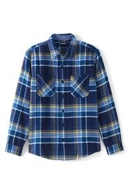 Lands End Men's Traditional Fit Rugged Flannel Shi