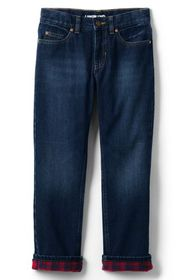 Lands End Boys Iron Knee Lined Classic Fit Jeans