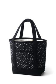 Lands End Open or Zip Top Print Canvas Tote Bag