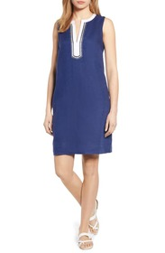 Tommy Bahama Two Palms Split Neck Shift Dress